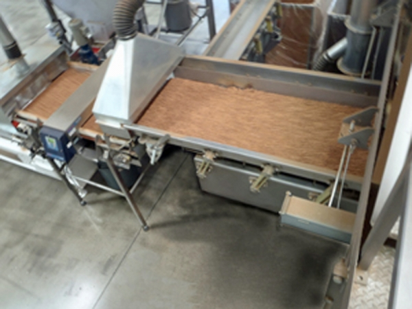 VWM Conveyor with Pneumatic Gate for Reject Material from Metal Detector
