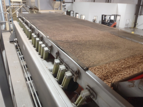 VWM Vi-Pro Size Grader Sorts Almonds and Nuts through Various Perforated Screens