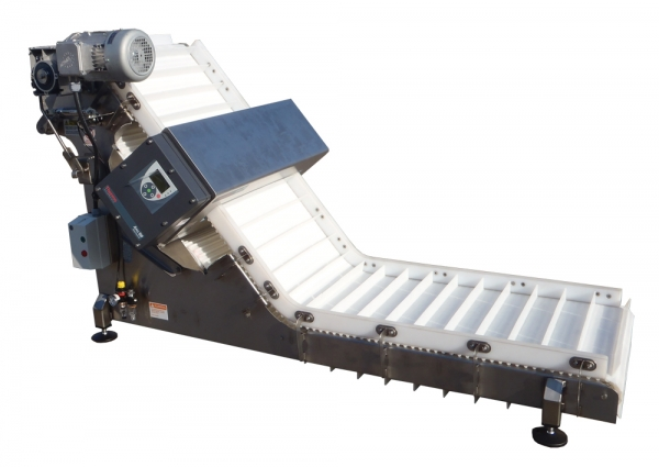 VWM Elevating Conveyor with Integrated Metal detector