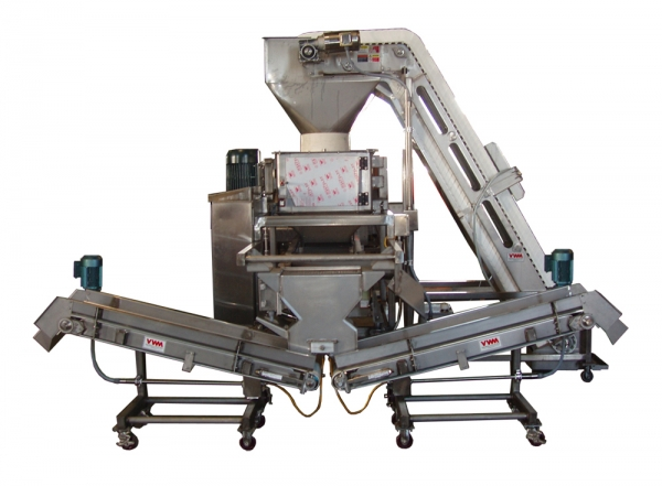 VWM De-Clumper Shown with Custom Infeed and Take-Away Conveyors