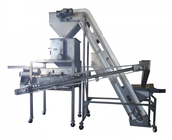 VWM De-Clumper Shown with Scalping VI-PRO® Vibratory Conveyor and Recirculation Conveyor